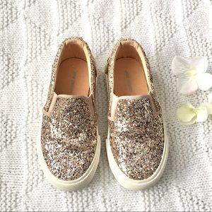 Rose Gold Flat Sneakers
